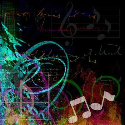 music notes. MusicNotes myspace layout